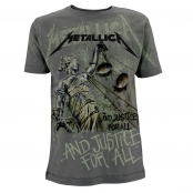 Футболка Metallica - Justice Neon All Over Charcoal