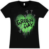 Футболка Green Day - Nail Heart
